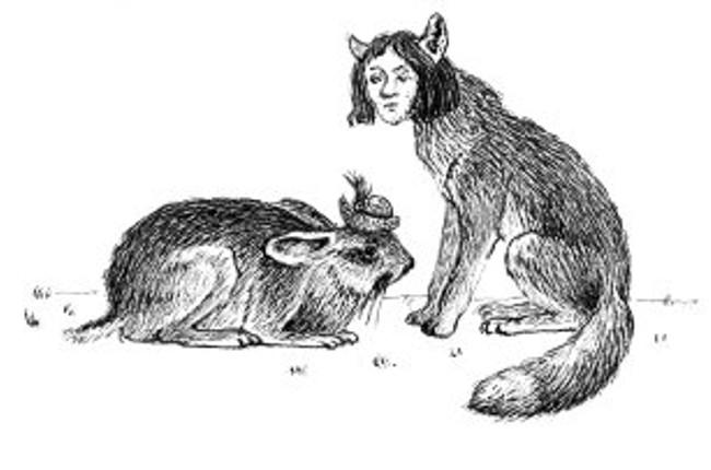 2bf07ad25564 Zakliati zaľúbenci – zajac s poľovníckym klobúkom a líška s ľudskou tvárou  vraj behajú po lese