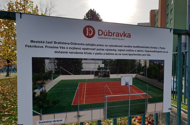 a54831ffd V Dúbravke vzniká nové multifunkčné ihrisko   Dúbravka   Aktuality ...